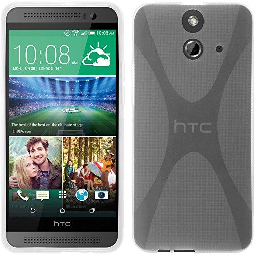 PhoneNatic Case für HTC One E8 Hülle Silikon Clear, X-Style + 2 Schutzfolien