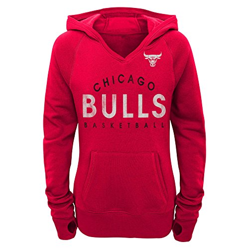 Outerstuff NBA Juniors Victory Kapuzenpullover, Mädchen, NBA Juniors Victory Pullover Hoodie, rot, XL(15-17) 50 Youth Hoodie