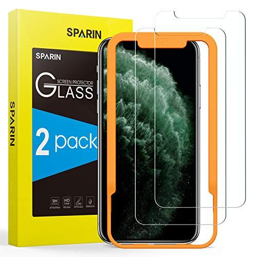 SPARIN [2-Pack] Protector Pantalla iPhone 11 Pro/XS/X