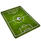 lulalula Alfombra de Campo de fútbol para niños Jugar Alfombrillas Suaves Antideslizantes para guardería, poliéster, Verde, 60 x 180cm