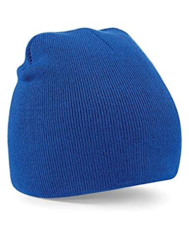 Beechfield - Unisex 100% Soft Feel Knitted Beenie Hat - 9 Colours Available (Bright Royal Blue)