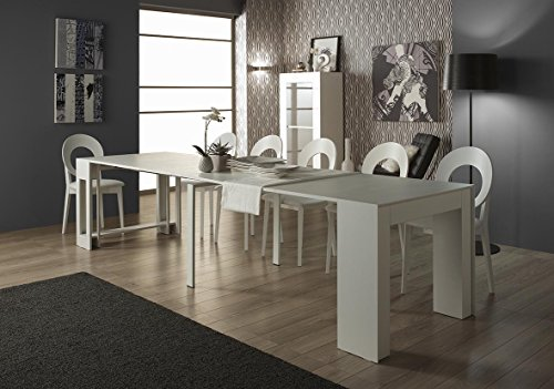 Ram Industrie Tavolo consolle allungabile MOD. Agnese, Fino a 12 posti tavola (Olmo)