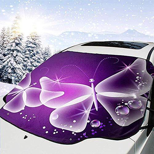 Paralume per auto viola a farfalla per auto Copertura per parabrezza pieghevole per auto impermeabile per finestra anteriore Parasole Paralume automatico adatto per auto,Suv e camion,147 * 118 cm