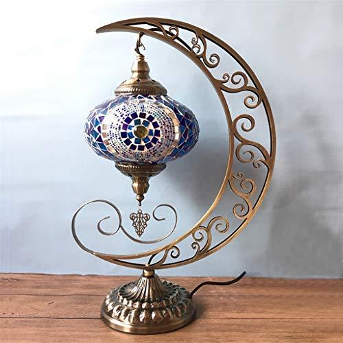 HBJP Schreibtischlampe Türkische Tischlampe Handgefertigte Mosaik Lampe Mond Tischlampe Glas Dekorative Lampe - Mosaik-tisch-lampe