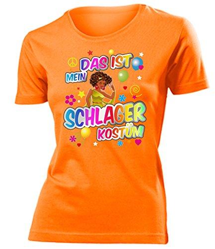 Schlager Kostüm Frauen T-Shirt Karneval Fasching Motto Schlager Party Geschenk Geburtstag Karnevalskostüm Gruppenkostüm Paar Disco deko Brille