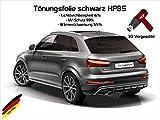 3 D Tönungsfolie passgenau vorgewölbt Audi A4 B8 TYP 8K