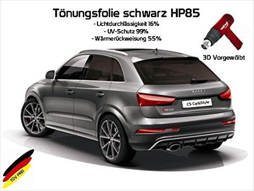 Preisvergleich Produktbild 3 D Tönungsfolie passgenau vorgewölbt BMW X3 F25 ab Bj. 11/10- (schwarz HP 85 Lichtdurchlässigkeit 15% Wärmerückweisung 55%)