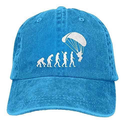 angwenkuanku Unisex Baseball Cap Garn gefärbt Denim Hut Skydiver Paraglider Evolution verstellbare Snapback Peak Cap wunderschöne 1943 -