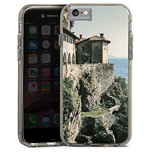 Apple iPhone 6s Bumper Hülle Bumper Case Glitzer Hülle Festung Mer Ocean Bumper Case transparent grau