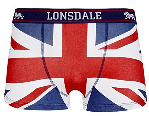 Lonsdale London -  Boxer aderenti  - A righe - Uomo Multicolore Blau / Rot / Weiss M