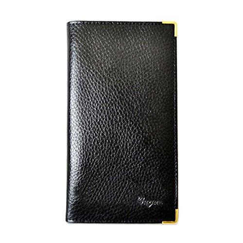 Charmoni für Kfz-Papiere und Personalausweis Führerschein den Kfz-Schein Blaue Karte aus glattem Crustleder Matts Leder Herren Damen