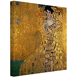 Bilderwelten Impression sur toile - Gustav Klimt - Portrait of Adele Bloch-Bauer I - Carré 1:1, toile imprimée toile impression photo sur toile xxl décoration murale art murale, Dimension: 70cm x 70cm