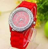 14Farben New Fashion Kette Trim Weiche Band Armbanduhr Frauen Geneva Armbanduhr Damen Quarzt watchquartz Uhren Stoff Armbanduhr