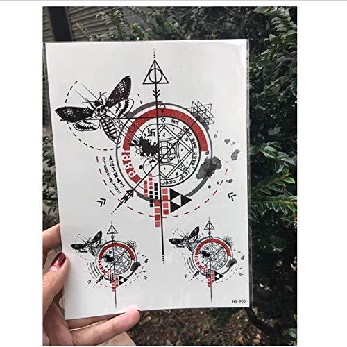 ruofengpuzi Temporäre Tattoo Aufkleber Größe Body Art 骷髅 Schmetterling Kompass Pfeil Wassertransport Fake Tattoo Flash Tattoo Female (Flash Kostüm Pfeil)