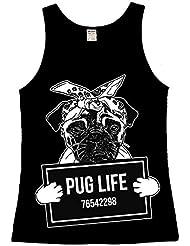 Pug Life Femme Tank Top Vest Chien Mignon Cute Puppy