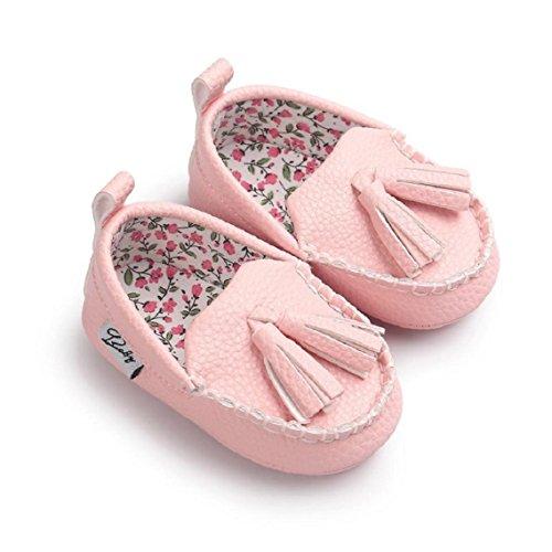 Schuhe Mädchen Sole Schuh Flats Pink Baby Leder Weichen Bzline® Jungen q875CTIw