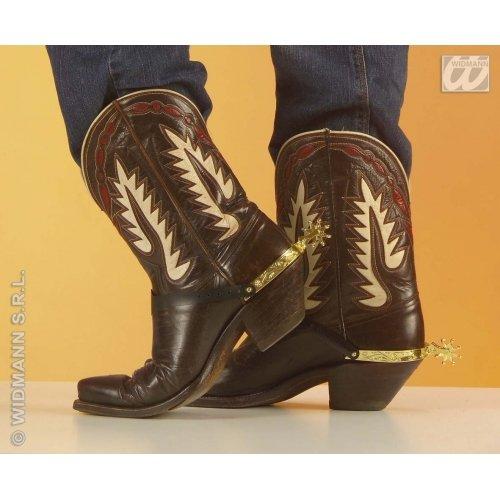 Bandit Kostüm Cowboy - WIDMANN-8518s Cowboy Adult Unisex, gold, One Size, 8518S