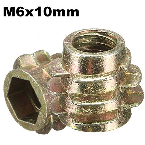 ChaRLes 5Pcs tornillo de la impulsión del maleficio M6x10mm en el parte...