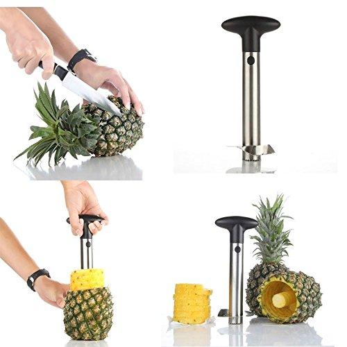 Al Stainless Steel Pineapple Peeler Pine Apple Slicer , Corer / Cutter