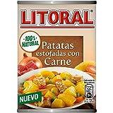 Litoral Guiso de Patatas Estofadas con Carne - Plato Preparado Sin Gluten, paquete de 10 x 420 gr - Total: 4.2 kg