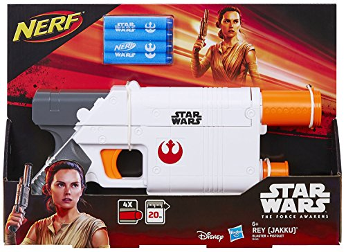 Hasbro Nerf Star Wars Episode 7 Rey Blaster mit internem Magazin & 4 Darts
