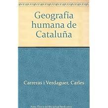 Geografia humana de Cataluña
