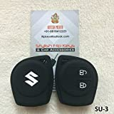 #6: SFK Silicone 2 Button Remote Key Cover for Maruti Models (White and Black)