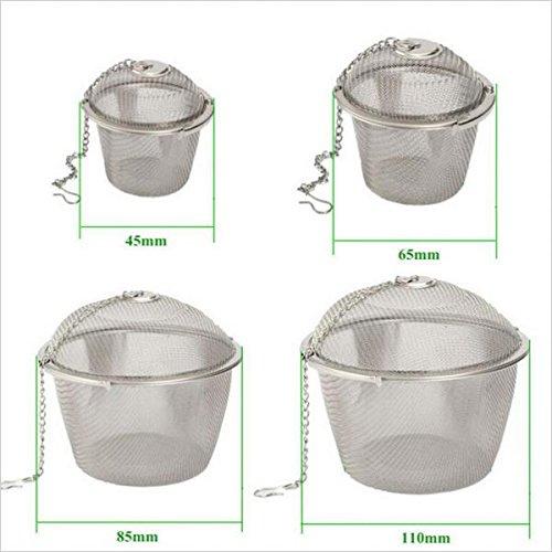 Generic Edelstahl Kugel Teefilter Gewürz Tee Sieb Mesh Filter - Silber, 4.5cm