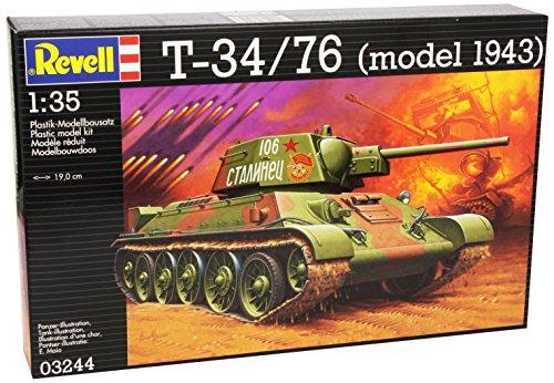 Revell Modellbausatz Panzer 1:35 - T-34/76 (model 1943) im Maßstab 1:35, Level 4