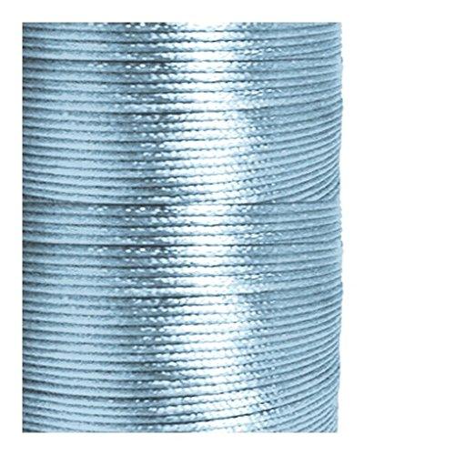 1 mm, Satin, Blau (Rattail Cord, Länge 5 M) (Rattail Schnur)