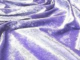 Pannesamt Velour Gewebematerial - lila - Lila, Sample -