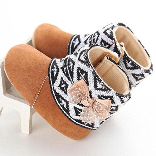 Covermason Prewalker tout-petit enfant fille neige bottes Soft unique bébé Crib Shoes (13, brun) brun