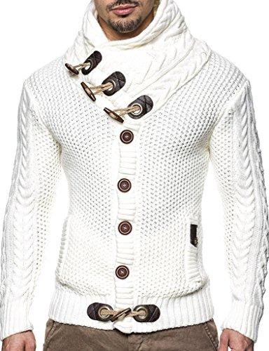 LEIF NELSON Herren Pullover Strickjacke Hoodie Jacke Kapuzenpullover Sweatshirt Longsleeve LN4195 (XXXXX-Large,