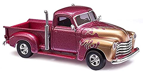 "Busch 48201 1:87 Chevy Pick-Up ""Flamme"" rot Modellauto"