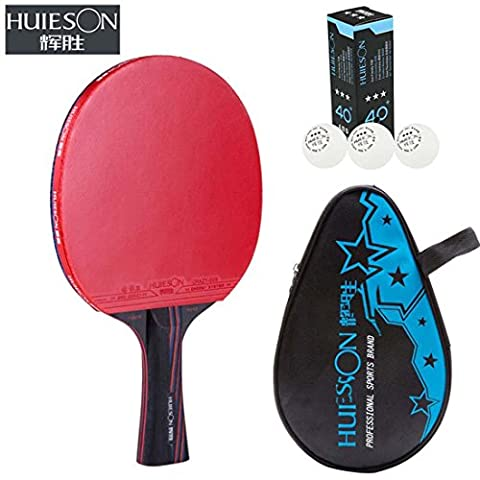 Pro Nano Carbonisation Raquette de tennis de table Sided Anti la colle Attaque entraînement et compétition utilisation Tennis de table chauve souris (longue)