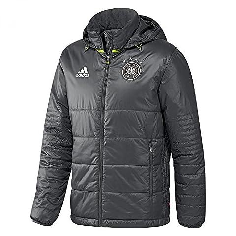 adidas Herren Winterjacke DFB Padded Jacket, grau, 3XL,