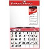 2017espiral Pizarra Calendario, Para lista de tareas y escritura en limpiar–Bolígrafo oficina de trabajo Home
