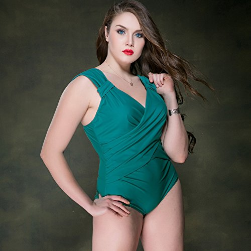Mme summer maillot femme occidentale 3 capture son grand costume de bain d'angle-YU&XIN Green