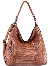 4a1074b356aa3 OBC Damen Stern Tasche METALLIC Nieten Handtasche Fransen Schultertasche  Bowling Shopper Hobo-Bag Umhängetasche Henkeltasche