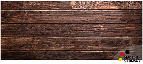 matches21 Küchenläufer Teppichläufer Teppich Läufer Holzbretter Dunkles Holz braun 50x120x0,4 cm maschinenwaschbar - Läufer Teppich Holz