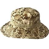 Hengzi New Camouflage Boonie Bucket Hat Mode Fischer Hut Wild Outdoor Sun Flat Hat (F)