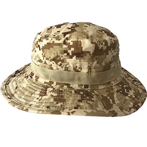 DQANIU  Sonnenschutzkappe, New Camouflage Boonie Bucket Hut Fashion Fisherman Hut Wild Outdoor Sun Flat Hut