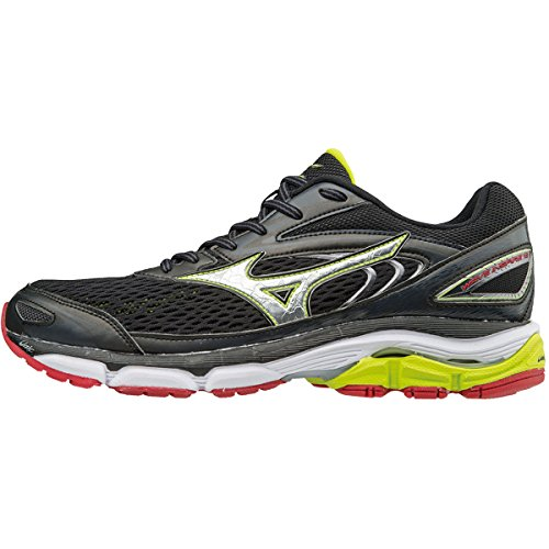Mizuno Wave Inspire, Chaussures de Running Homme, Gelb Multicolore (Black/silver/limepunch)