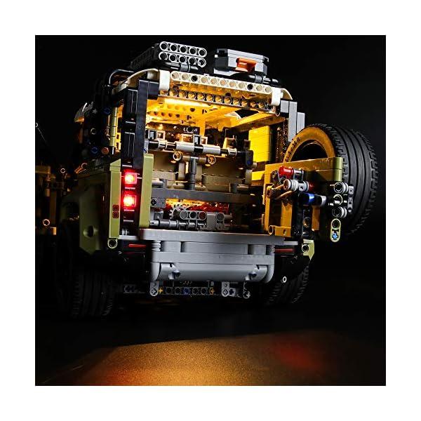 LIGHTAILING Set di Luci per (Technic Land Rover Defender) Modello da Costruire - Kit Luce LED Compatibile con Lego 42110… 5 spesavip