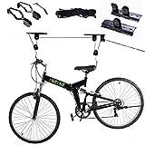 safstar Fahrrad Wandhalter Bike Lift Deckenregal Hoist Aufbewahrung Garage Kleiderbügel Riemenscheibe