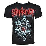 Slipknot Hombres Shattered Camiseta Large Negro