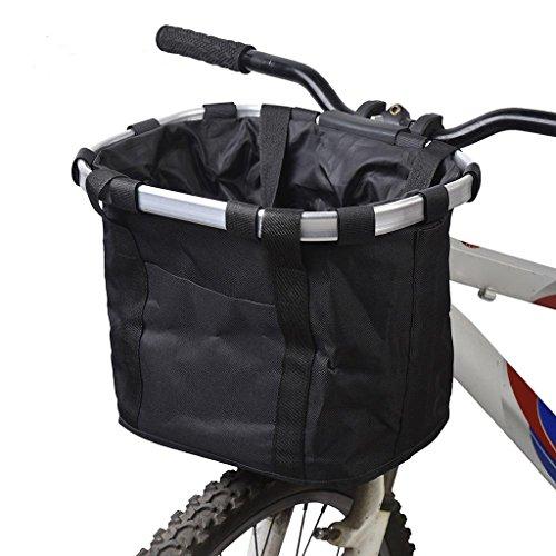 MagiDeal 1 Stk. Fahrrad Linie Korb Polyester Mesh Tasche Korb - Sport Zubehör Schwarz