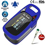#9: Dr Trust (USA) Professional Series Finger Tip Pulse Oximeter With Audio Visual Alarm and Respiratory Rate(Blue)