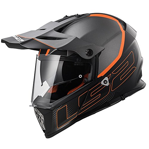 LS2 Casco Moto Mx436 Pioneer Element, Matt Black Titanium, S