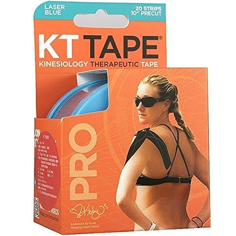 KT TAPE PRO, Pre-couper, 20 Bandes, Synthetique, Bleu Laser